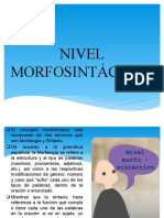 NIVEL MORFOSINTÁCTICO FERNANDA