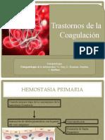 Fisiopato Transtornos de Coagulacion