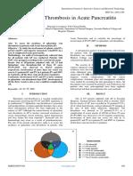 Incidence of Thrombosis in Acute Pancreatitis