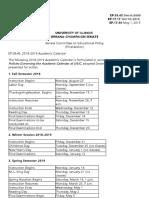 2018-2019 Academic Calendar