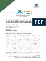 Modelagem Numérica Do Comportamento de Pilares de Concreto Armado Reforçados Com Prfc Usando o Modelo Constitutivo Concrete Damaged Plasticity - Artido Fo Cilamce