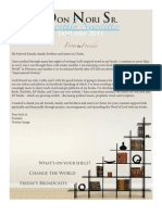 Don Nori Sr's 1st Newsletter