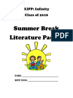 7th Grade Literature Project Summer Packet