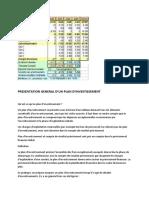 PRESENTATION GENERAL D'UN PLAN D'INVESTISSEMENT