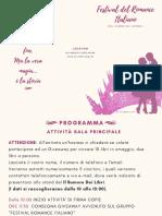 Brochure Festival Del Romance Italiano 2019