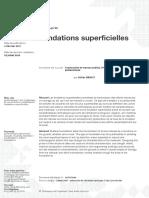 Fondations Superficielles.