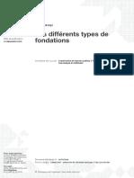 Les différents types de fondations