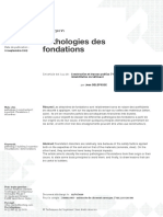 Pathologies des fondations