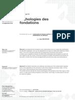 Pathologies des fondations