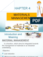 chapter 4- material management