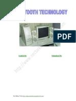 Seminar Report On Bluetooth
