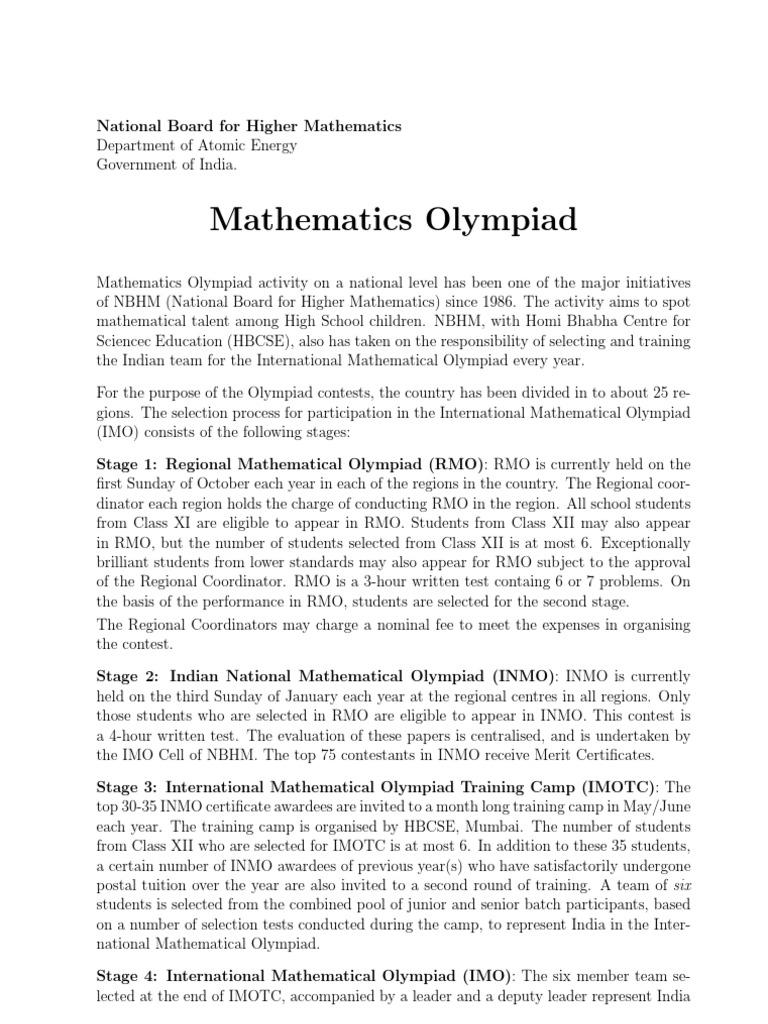Math Olympiad RMO,INMO,IMO books | Mathematics | Física e