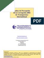 Transp. Intl Indice de Percepcion de La Corrupcion 2004