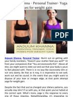 Anjuum Khanna - Personal Trainer- Yoga Poses for Weight Gain