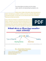 Bearing nomenclature procedure and its simple calculations