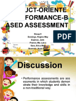 PRODUCT-ORIENTED PERFORMANCE-BASED ASSESSMENT