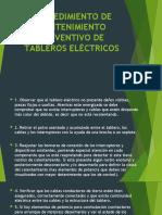 MANTENIMIENTO PREVENTIVO DE TABLEROS ELÉCTRICOS