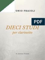 Antonio Fraioli - DIECI STUDI per clarinetto