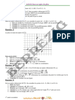 Série d'exercices - Math activités dans repère - 1ère AS  (2012-2013) Mr Abderrazek Berrezig