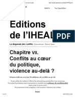 Conflits au cœur du politique, violence au-delà ?