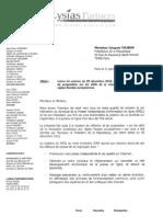 Lettre du Syndicat de la presse indépendante d'information en ligne à Jacques Toubon