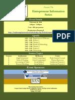 Entrepreneur Information Series - Dallas Schedule