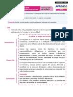 Ficha 2 Exp 2 Comunicación Tercer Grado - Nov 2020