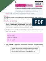 Ficha 2 Exp 2 Comunicación Primer Grado - Nov 2020