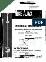 Nike Ajax Historical Monograph 1945-1959