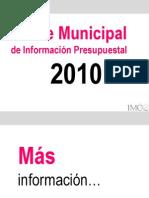 Indice Mpal Info Presupuestal 2010
