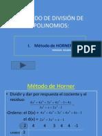 MÉTODOS DE DIVISIÓN DE POLINOMIOS