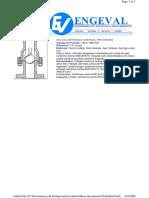 Valvula retenção vertical tipo esfera
