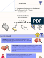 PPT Journal Reading Farah Maulida Marta {Listian Prisilia Rahayu-The Risk Factor of Recurrence Stroke among Stroke and Transient Ischemic Attack Patients in Indonesia}