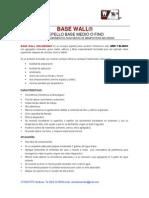 Especificaciones Técnicas Basewall Weldbond