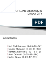 impact of load shedding in dhaka city