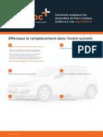 Comment remplacer les plaquettes de frein à disque arrière sur une Opel Astra H