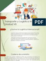 Transporte y Logística Internacional Letras en Morado