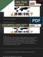 Origen de las Mercancias Letras en Morado