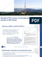 Results of ITU survey on broadcast needs in UHF band