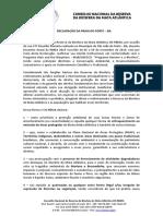 Carta Aberta - Encontro Nacional RBMA 2019