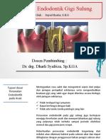 Endodonti Gigi Sulung - Sayed Rustia