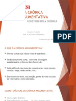 A CRÔNICA ARGUMENTATIVA1