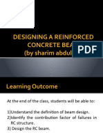 LECTURE 3- DESIGN A REINFORCED CONCRETE BEAM