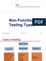 Non Function types of testing