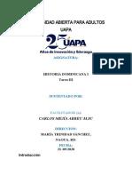 Tarea III Historia Dominicana I