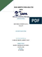 Tarea IV Historia Dominicana I