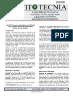 CARACTERÍSTICAS AGRONÓMICAS DE HÍBRIDOS