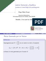 Dependencia lineal-Regla del paralelogramo