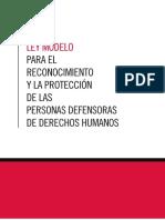 Ley modelo para la protección y reconocimiento de los defensores de ddhh