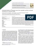 carotenoid database of commonly eaten swiss vegetables Constance Reif et al 2013